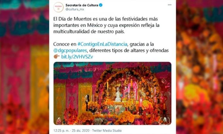 Secretaría de Cultura recordó el Día de Muertos en plena Navidad