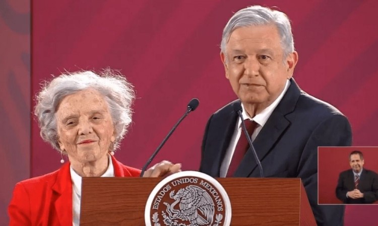 "Elena Poniatowska reaviva polémica sobre ""mañaneras"" de López Obrador"