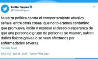 Twitter lanza aviso a usuarios que desearon la muerte de AMLO