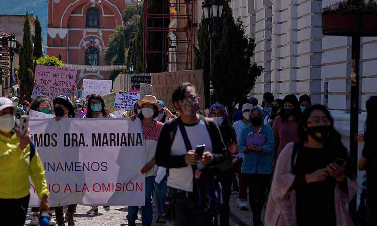 Protestan en Chiapas por feminicidio de médica que indignó al país