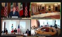 Temas que se trataron en la breve reunión con Blinken- Ebrard: migración y tráfico de armas
