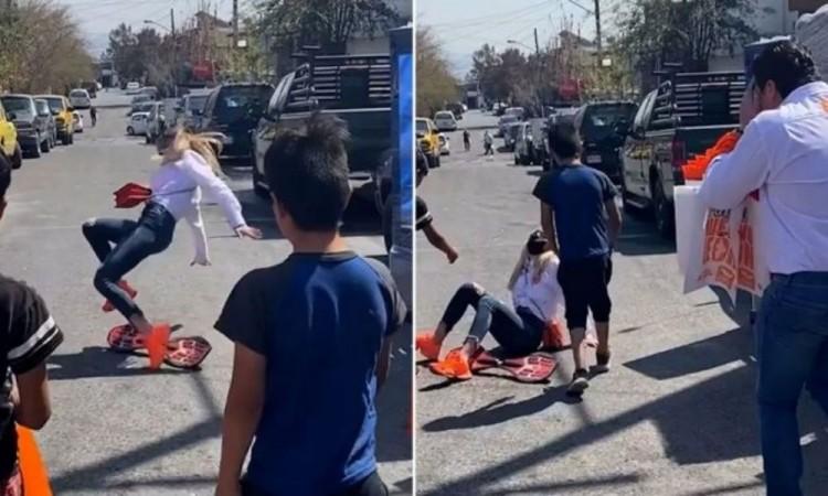Samuel García volvió a desatar la polémica: su esposa se cayó en patineta y así reaccionó el político