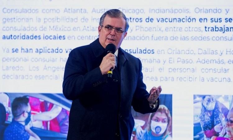 """""""Vamos bien"""": Marcelo Ebrard sobre la adquisición de vacunas contra Covid-19"""