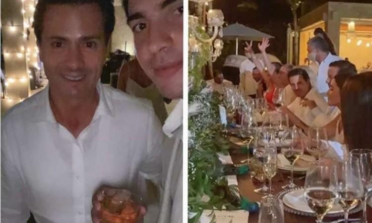 Circula en redes video de Peña Nieto en la en boda de la exreina del carnaval colombiano