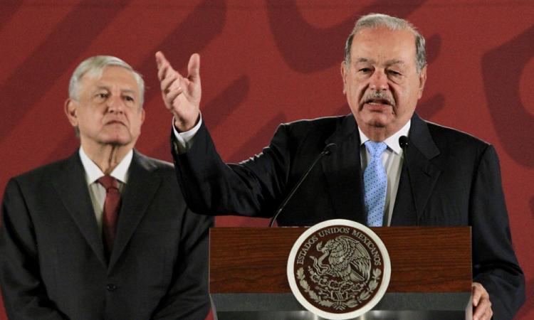 AMLO destaca que Carlos Slim es un empresario con dimensión social