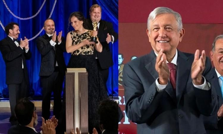 AMLO felicita a los mexicanos ganadores del Óscar a mejor sonido