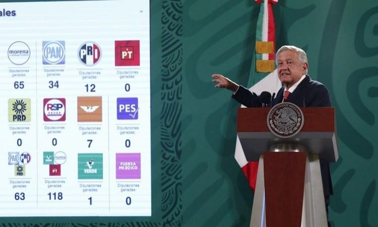 López Obrador dice que el resultado electoral impulsará su proyecto