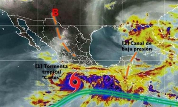 Se formó la tormenta tropical Carlos en aguas del Océano Pacífico: esta será su trayectoria