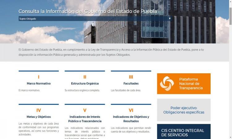 Incompleta, información pública de transparencia
