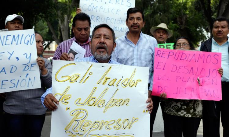 Continuará lucha para destituir a alcalde de Jolalpan