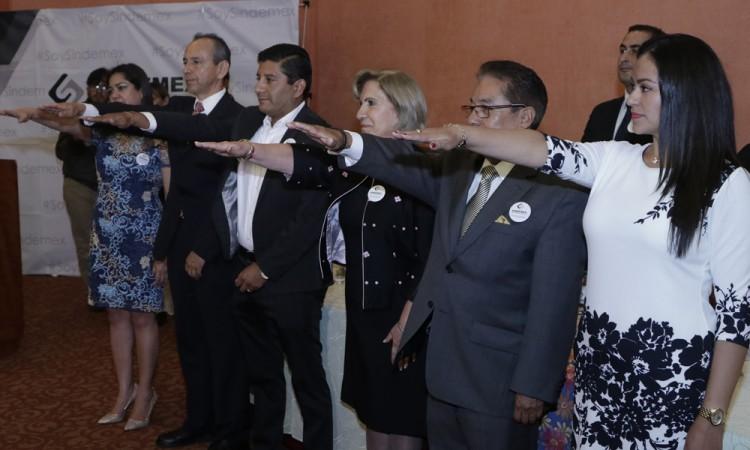 Toma de protesta José Romero al sindicato de empresarios