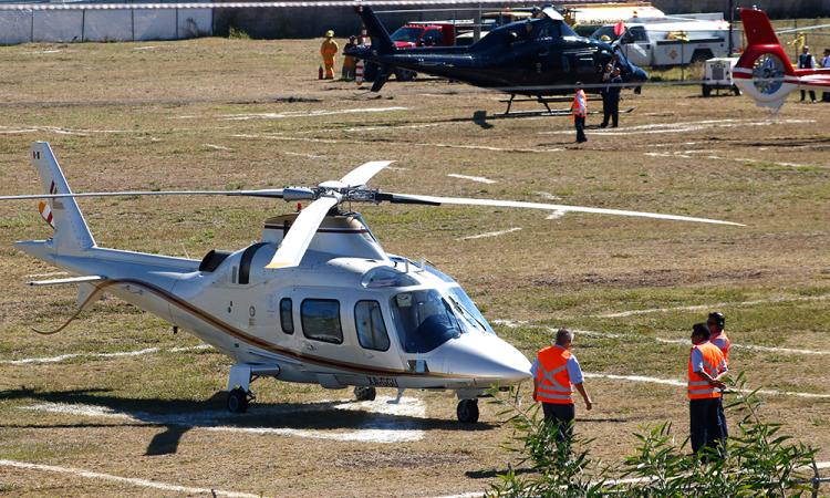Helicópteros, varados por alto costo de mantenimiento