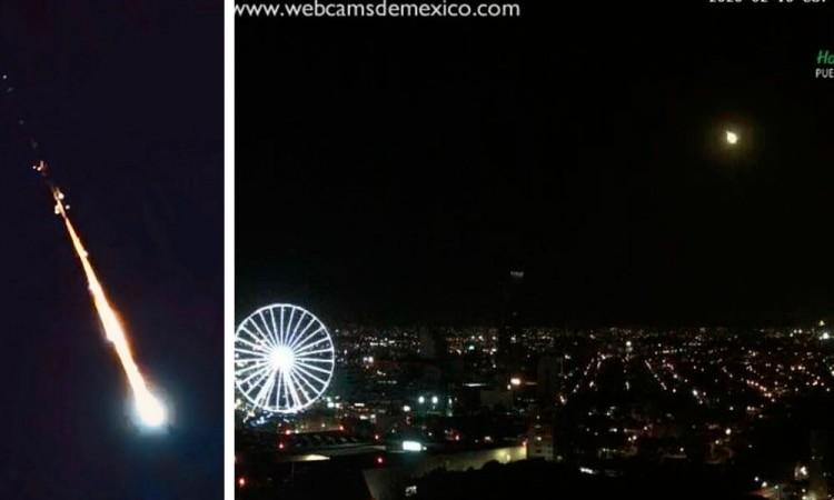 Captan paso de meteorito en Puebla y otras ciudades de México