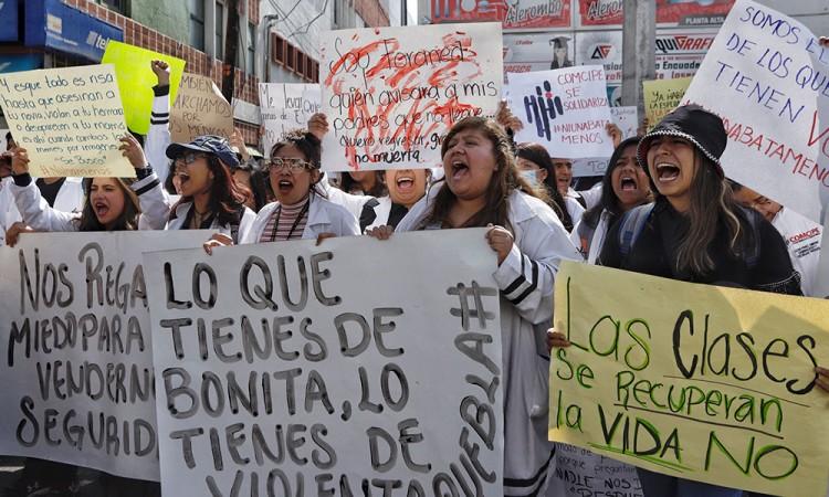 SOS estudiantil en Puebla ¡nos están matando!