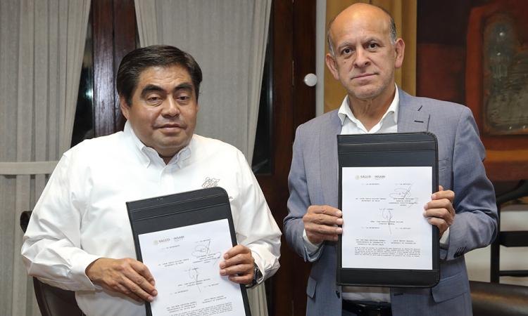 Gobierno de Puebla firma acuerdo con Insabi