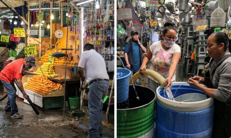 Sanitizan mercado Hidalgo, no dejarán de trabajar.