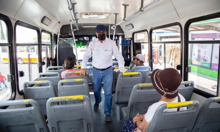 La SMT supervisa sanitización en transportes públicos