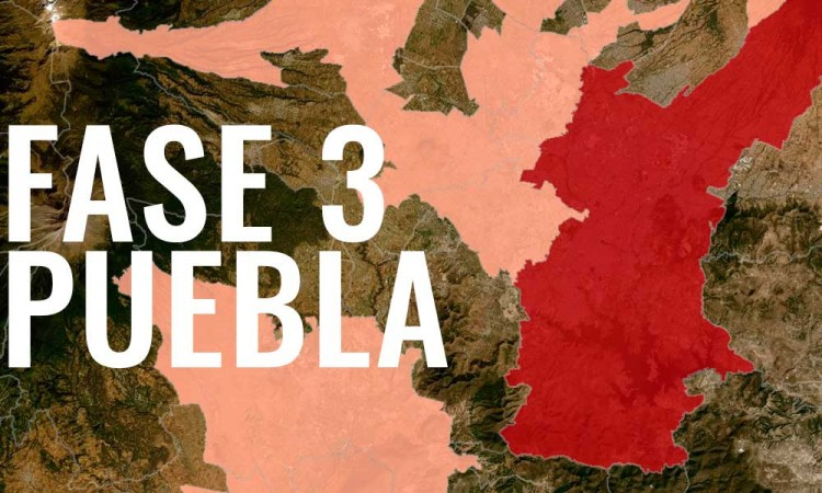 Determinan en Puebla capital fase 3 por COVID-19