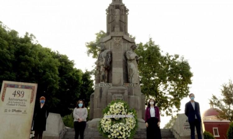 Realizan ceremonia por la fundación de Puebla en su 489 aniversario