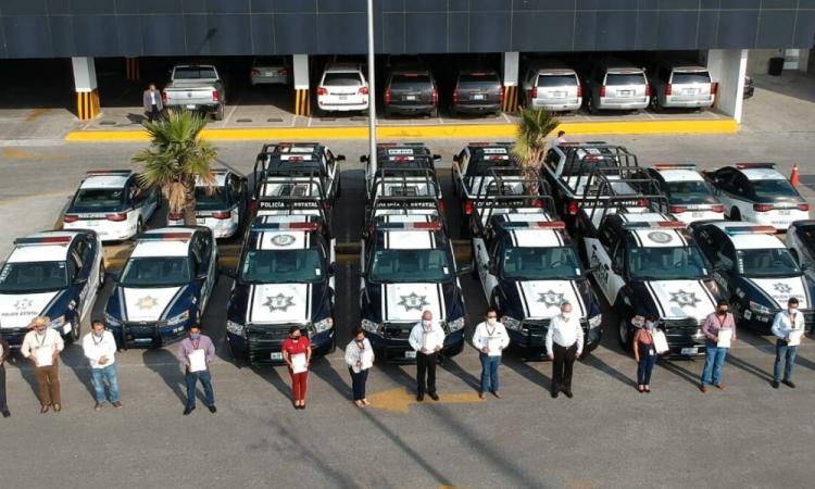 SSP entrega patrullas a 16 municipios