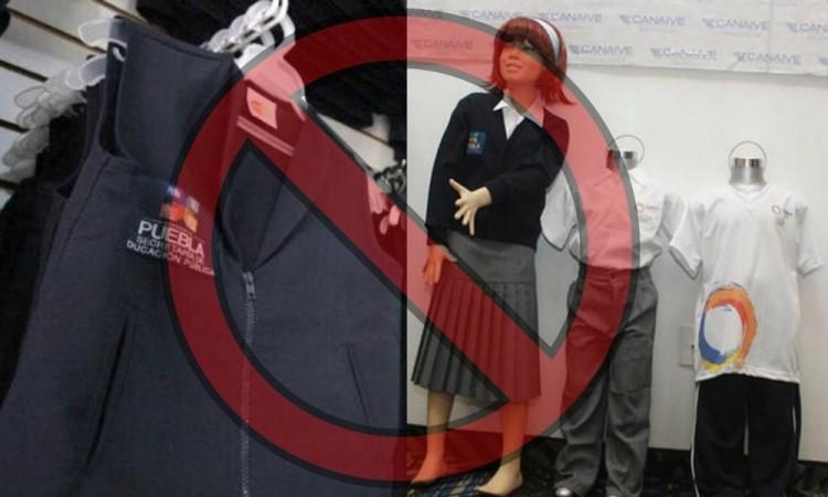 Borrarán escudo morenovallista y galista del uniforme escolar