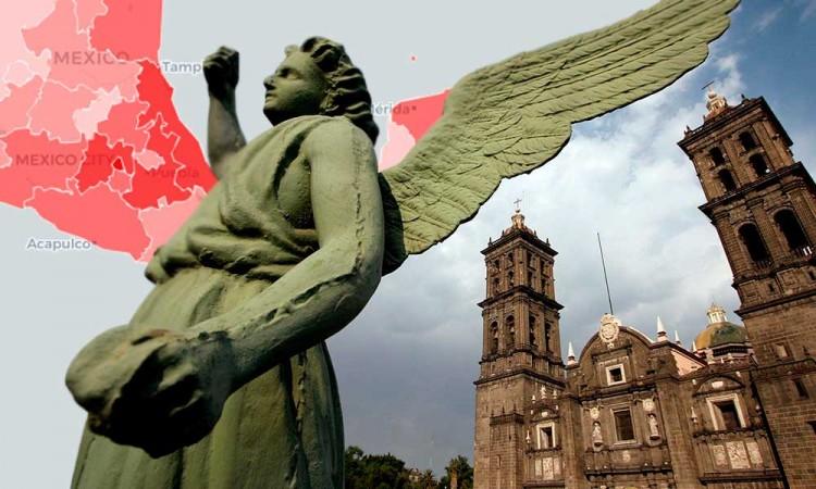 Enfrenta Puebla compleja vecindad; estados con tasa altas de Covid-19