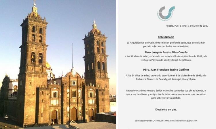 Mueren dos sacerdotes más por Covid-19 en Puebla