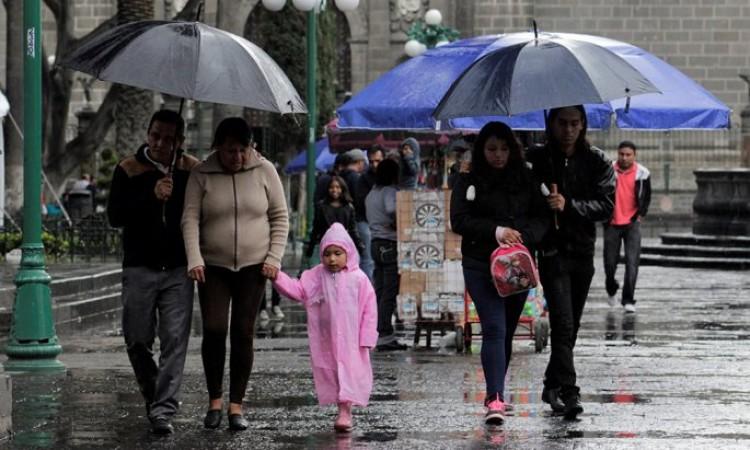 Por tormenta Cristobal prevén fuertes lluvias para Puebla