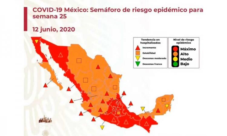 Puebla seguirá en rojo para tercera semana de junio
