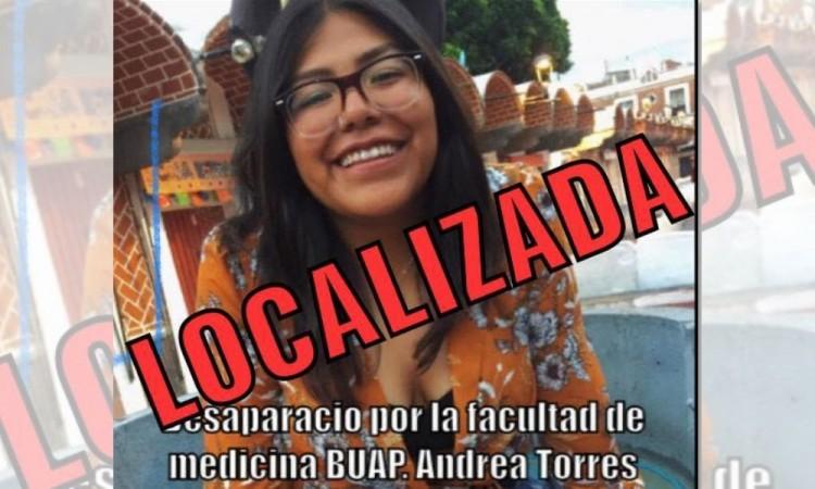 Andrea Herrera, estudiante de la BUAP, es encontrada con vida