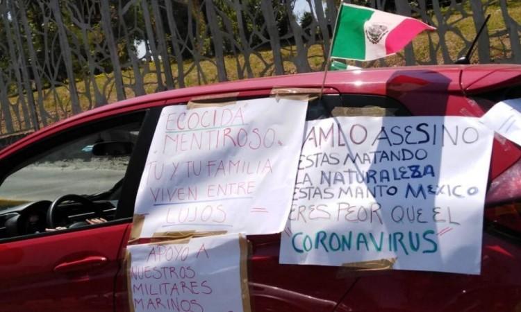En Puebla, tocan el claxon para manifestarse contra AMLO