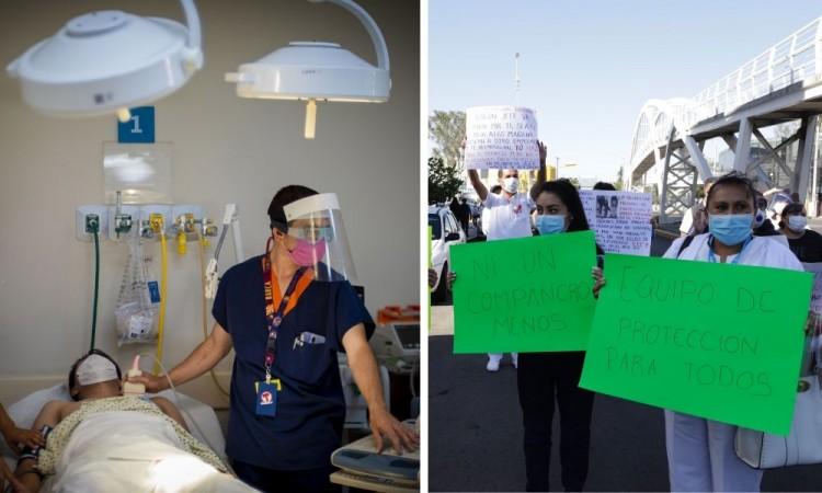 Personal de Salud del ISSSTE protesta por falta de insumos