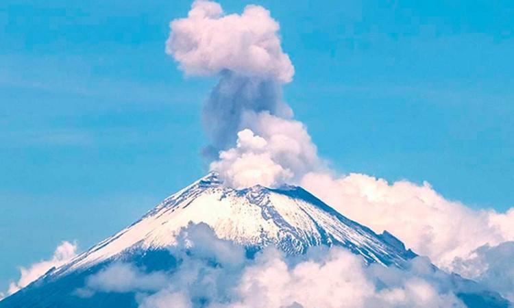 Popocatépetl mantiene un semestre con baja intensidad