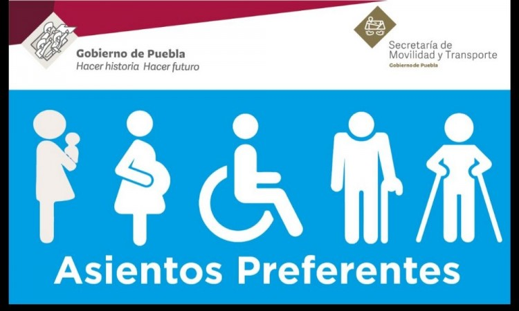 Asignan lugares para personas vulnerables en el transporte público
