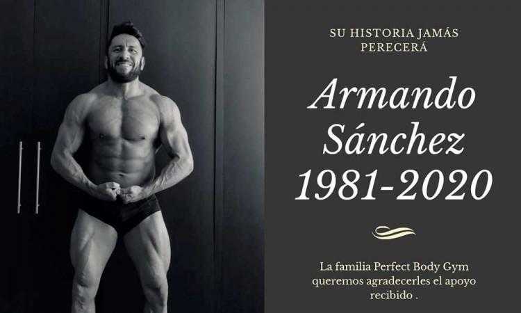 Muere dueño de Perfect Body Gym, Armando Sánchez