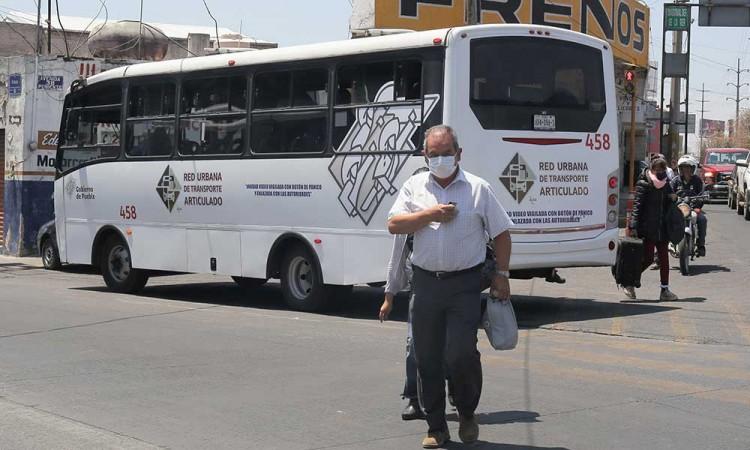 Transporte público sufre caída del 61% durante pandemia del Covid-19 en Puebla