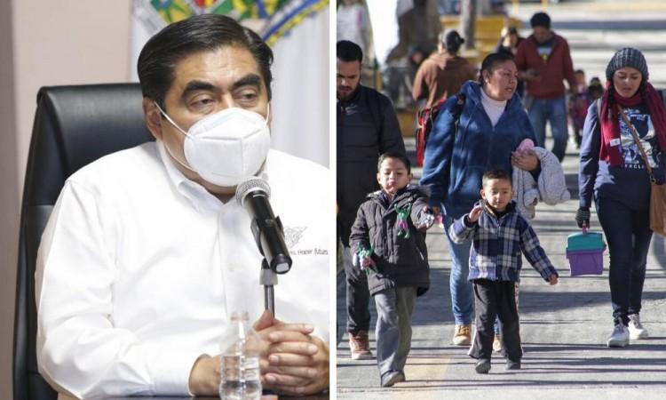 Descartan la reanudación de actividades escolares en Puebla