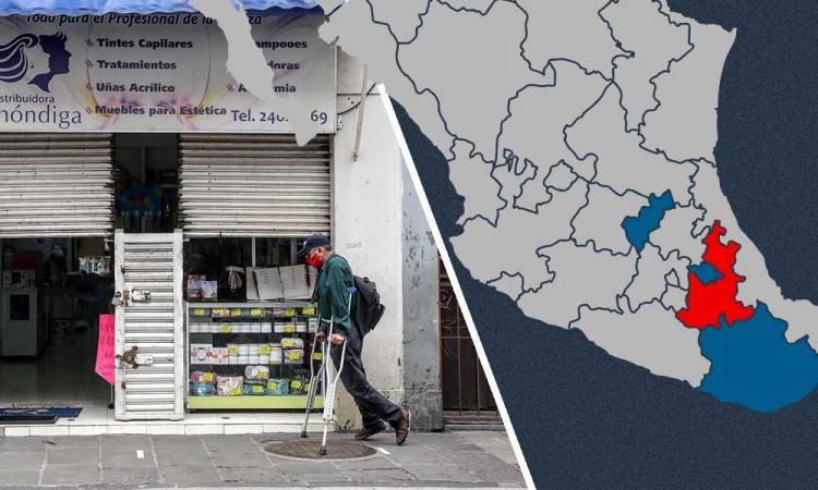 Comercios del centro migran a Tlaxcala o Querétaro para escapar de la pandemia en Puebla