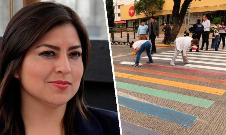 Fallo por paso peatonal visibiliza la homofobia en Puebla, dice Claudia Rivera
