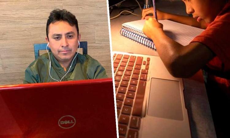 Maestros poblanos enfrentan rezago tecnológico para el regreso a clases en línea