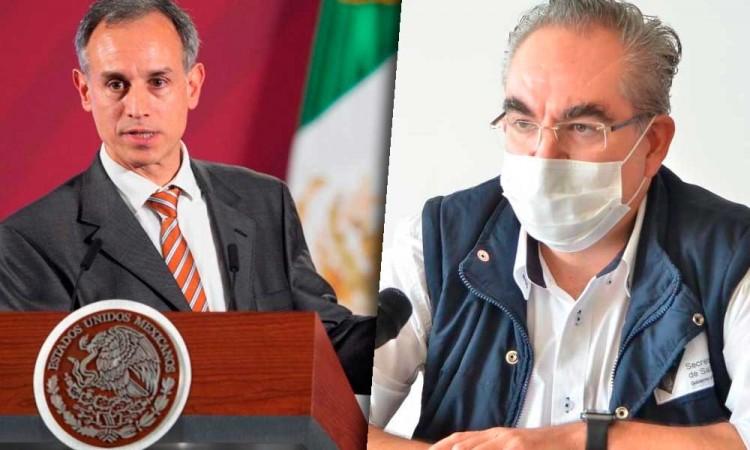 Gatell registra 800 contagios más de Covid que el gobierno de Puebla