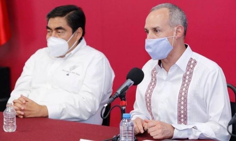 Hugo López Gatell en sus visita a Puebla resaltó la necesidad de detectar a tiempo a las personas con coronavirus
