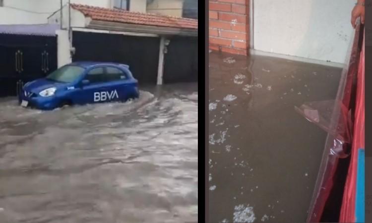 En la unidad habitacional San Jorge el agua entró a las casas.