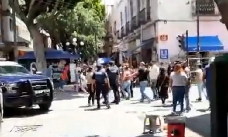 Alrededor de 20 efectivos de la Policía Municipal participaron en el operativo.