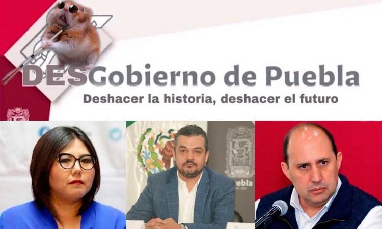 Genoveva Huerta, Manzanilla y Pedro Gómez, detrás de cuenta @DesgobiernoPue, dice Barbosa