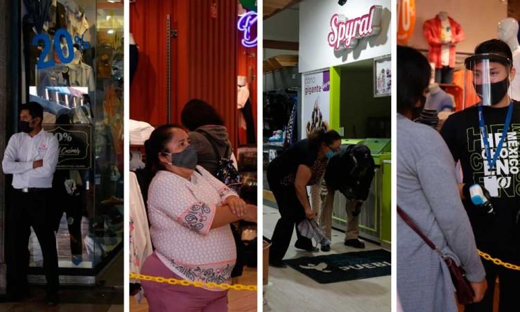 Reinician economía de Puebla pero semáforo sigue en color rojo