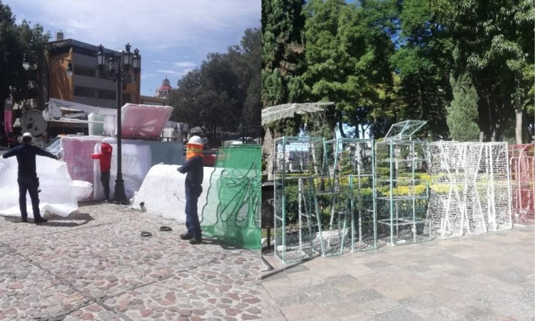 Inicia Ayuntamiento instalación de mil 700 adornos patrios en la capital poblana