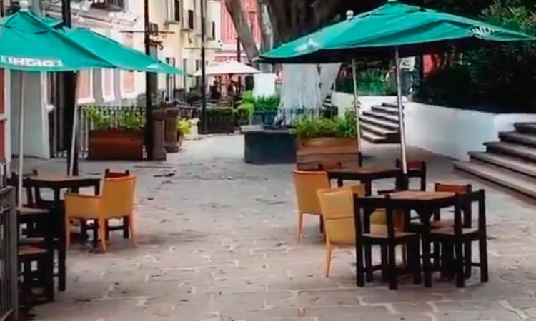 Comienza instalación de terrazas móviles en Centro Histórico de Puebla