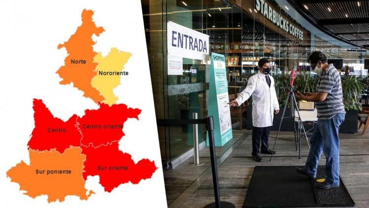 Tres regiones de Puebla continúan en riesgo máximo por Covid-19