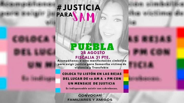 Realizarán marcha para exigir justicia para Samantha, mujer trans asesinada en Atlixco